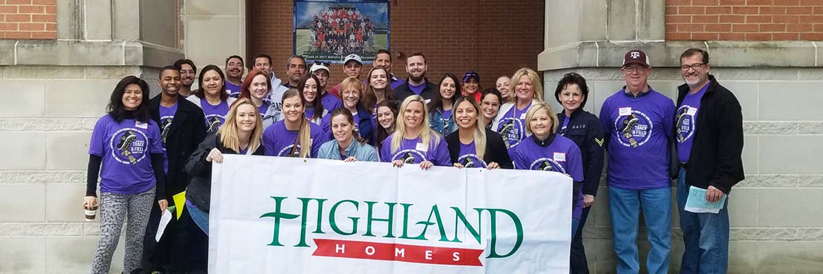 Highland Homes Volunteering at the Special Olympics